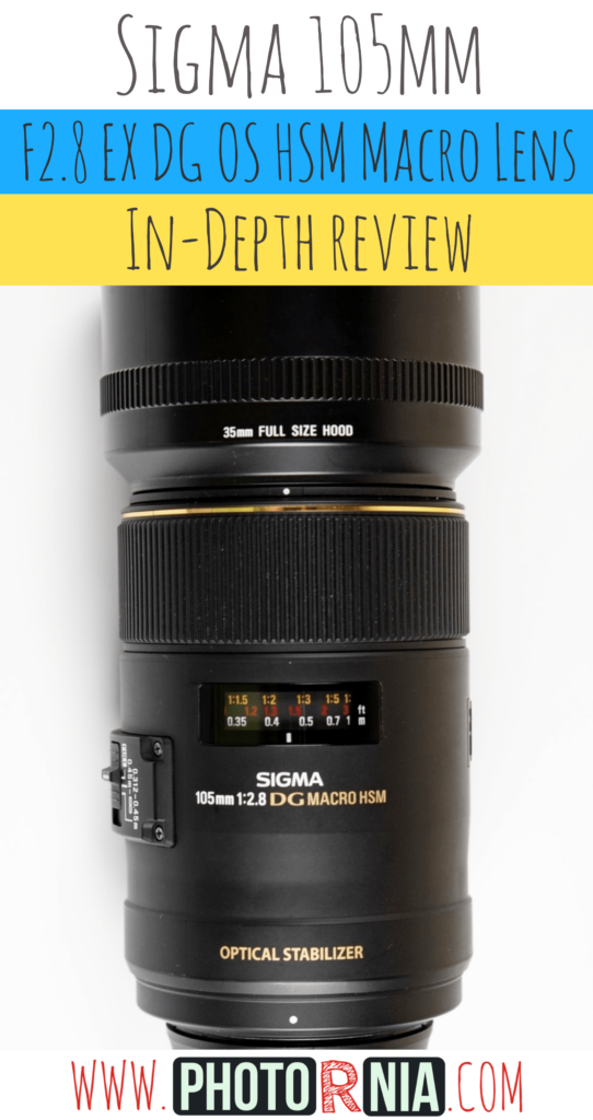 Sigma 105mm F2.8 EX DG OS HSM Macro is a Lens which can be used not only for macro photography but widely with an outstanding quality.   You can read our most complex review from the internet of this Sigma 105mm F2.8 lens