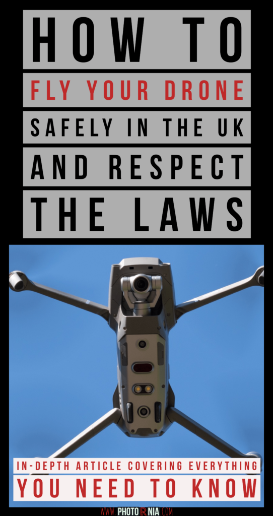 How to fly your drone safe in the UK and respect the laws?  I wrote an extended article highlighting the 5 main laws you have to respect as a drone operator in the UK plus 12 extra tips to stay safe.