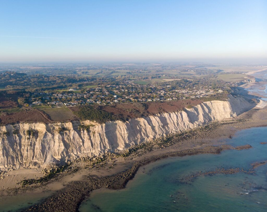 east sussex coast aerial photography, taken with DJI MAVIC AIR DRONE