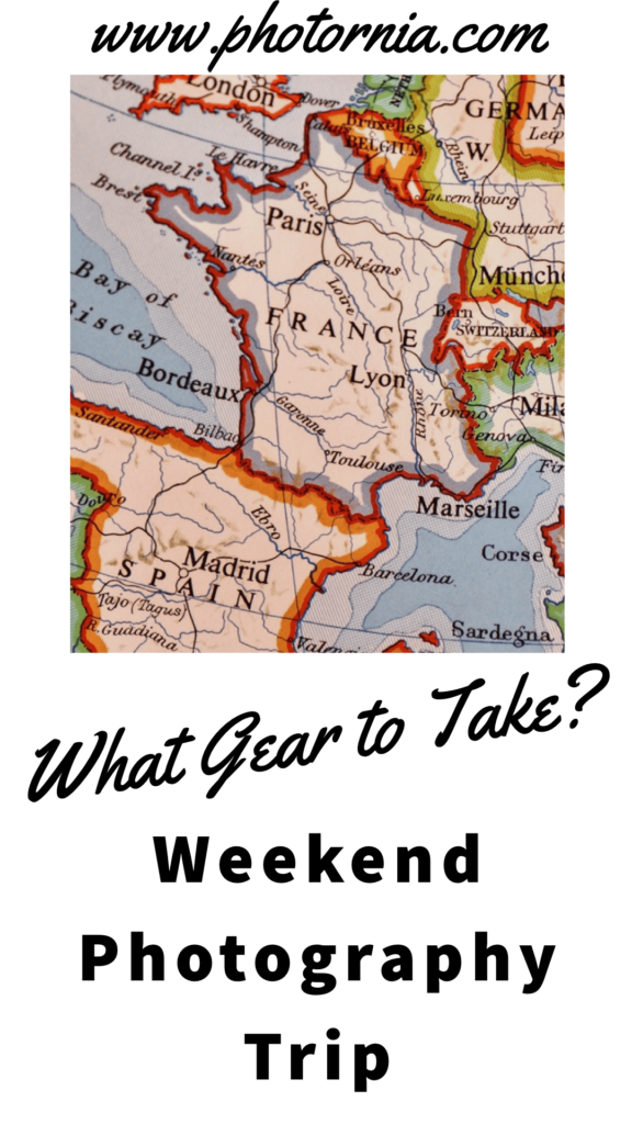 Having a weekend photography trip as a photographer means that you will have to pick your destination and gear. Travel light? heavy? with the car?  It is not the easiest thing to pack your gear and just go, even if is just for the weekend. As there are many things to take into consideration, and from my own experience I will try to share some tips and advice for a weekend photography trip for you to consider.