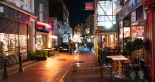 street night photograph handheld