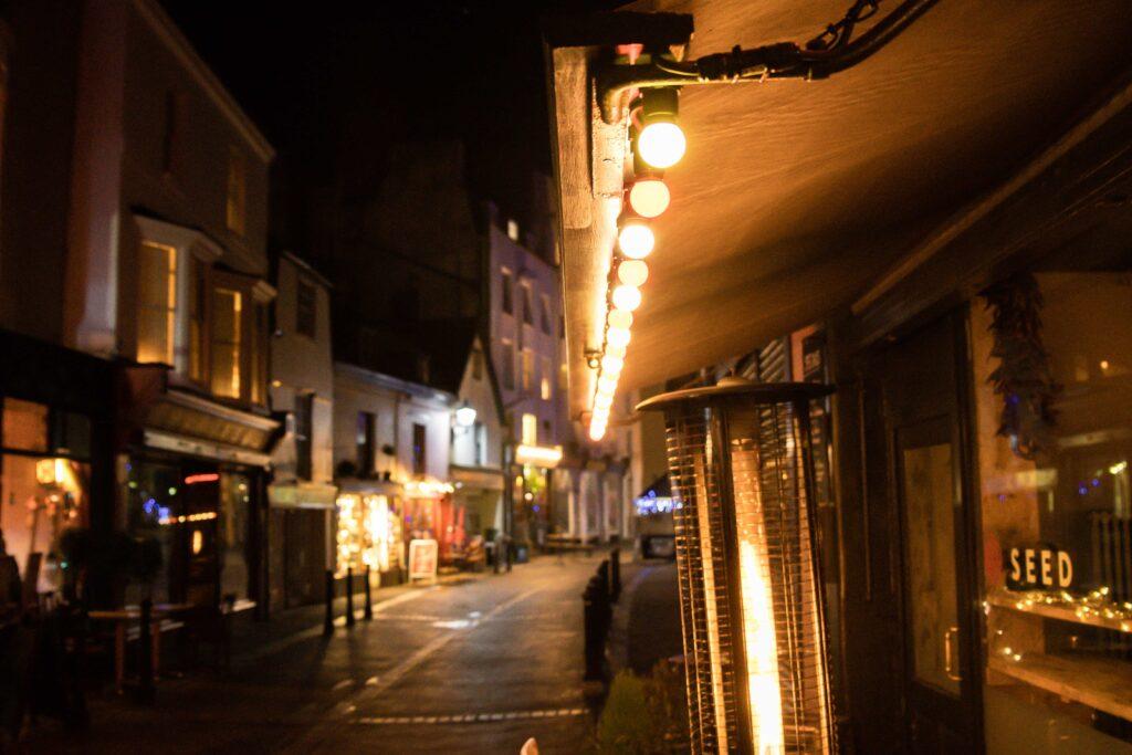 Street night photography taken handheld