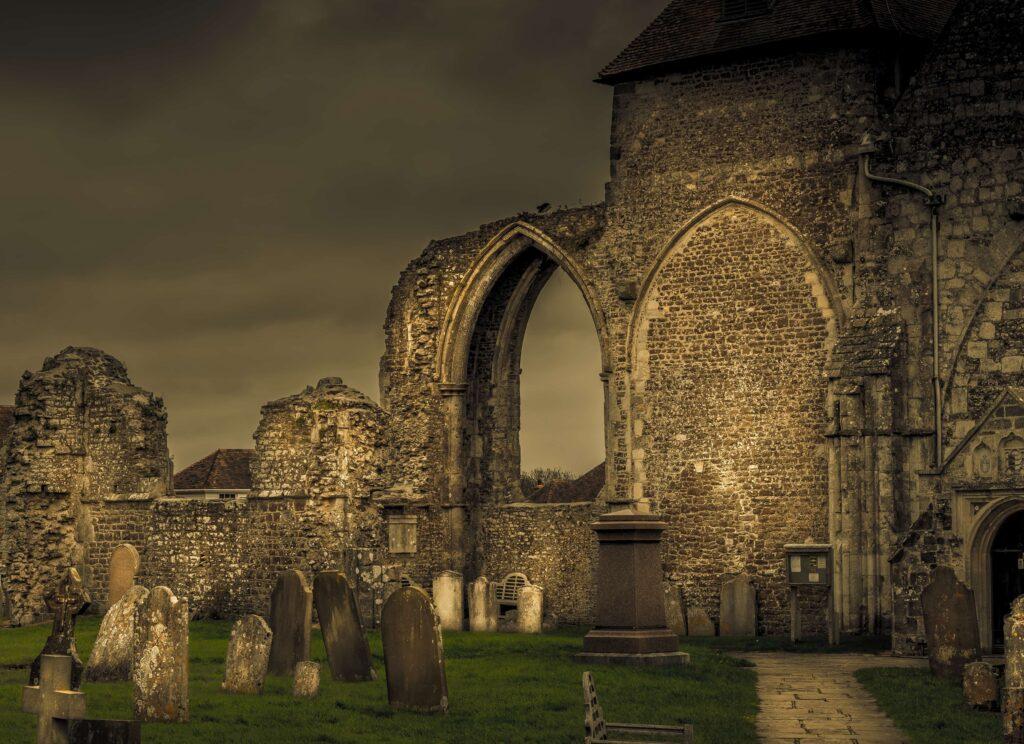creative ideas to photograph - creepy church and graveyard