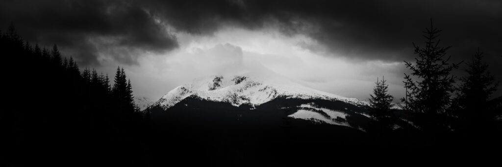 snow storm on a mountain