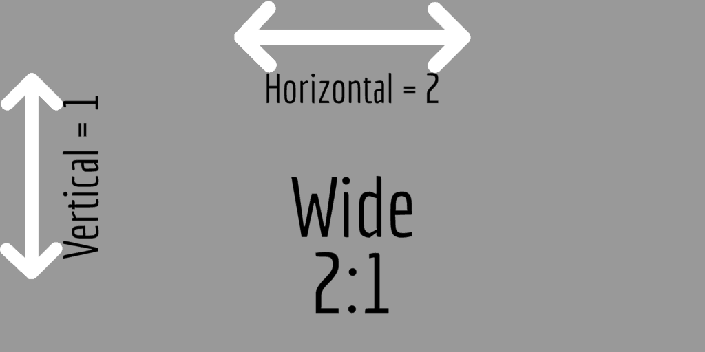wide 2:1 aspect ratio