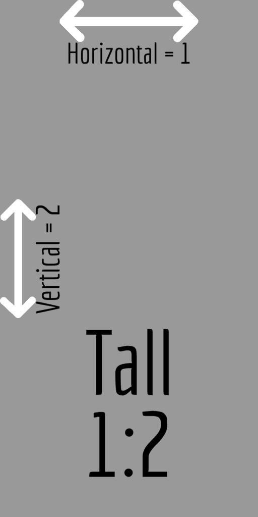Tall 1:2 aspect ratio