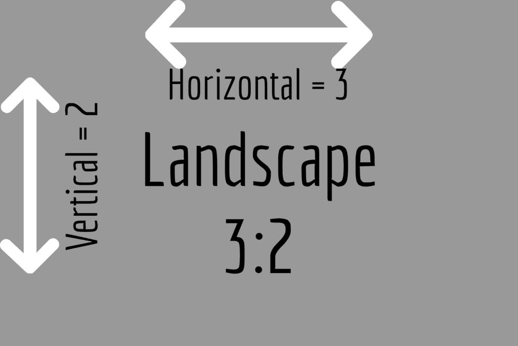 Landscape 3:2 aspect ratio