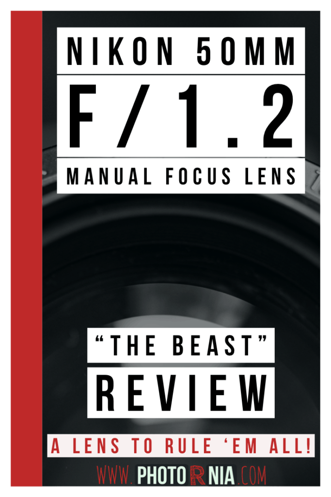 The Nikon Nikkor 50mm f1.2 manual focus is one of the very rare lenses available on the market with an aperture opening of f1.2 on a reasonable price, providing excellent image quality and is an absolute beast for any artistic photographers. Here is my in-depth review for the Nikon 50mm f1.2 manual focus lens.