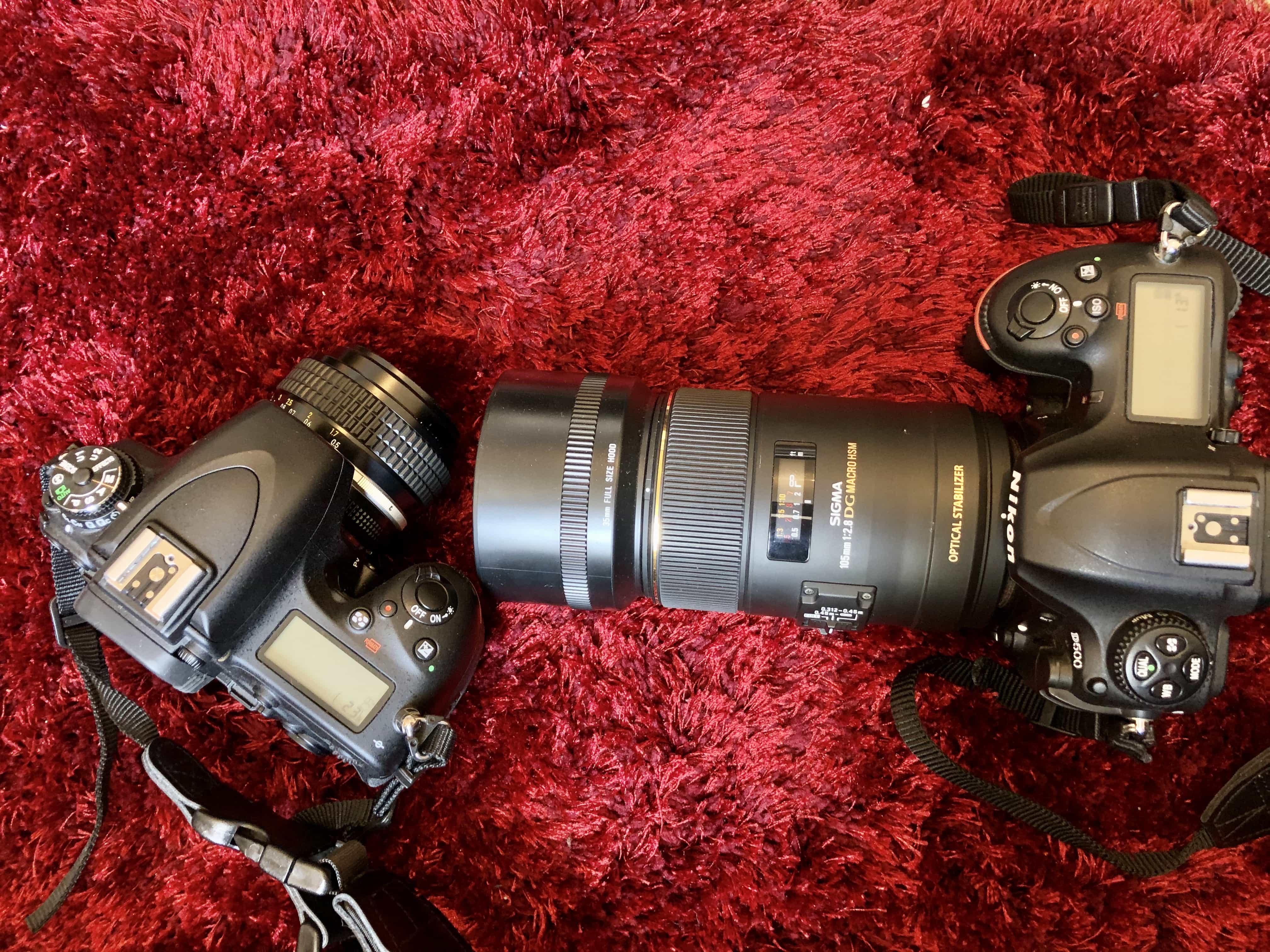 50mm lens vs 105mm lens