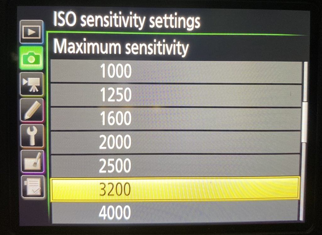 iso maximum sensitivity to improve your photography tips
